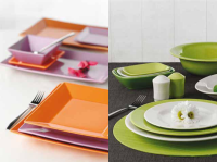 CERAMIC TABLEWARE OF VARIOUS COLORS