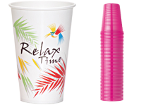CARDBOARD CUPS OF VARIOUS KINDS